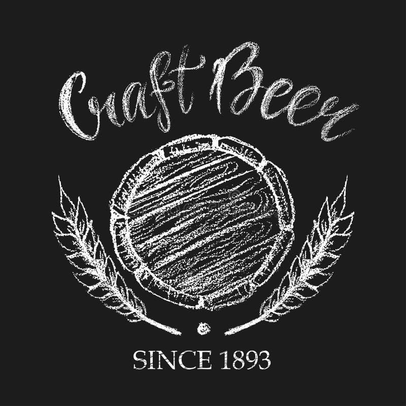 Carft piwa kredy odznaka ilustracja wektor