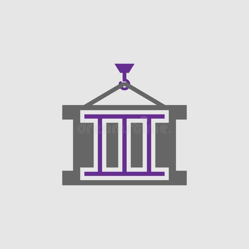 Carga, ícone do recipiente Elemento do ícone da entrega e da logística para apps móveis do conceito e da Web A carga detalhada, í ilustração do vetor
