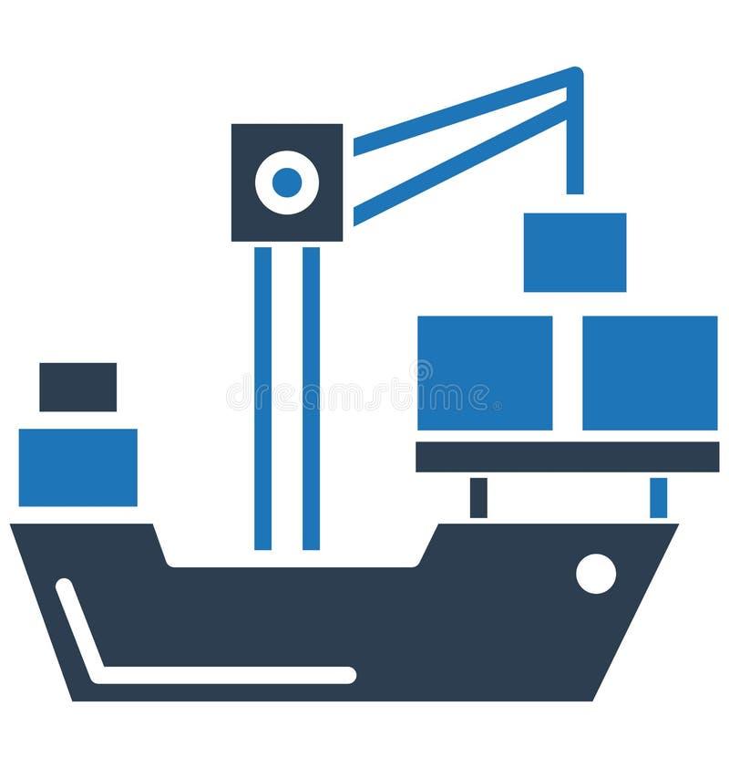 A carga, ícone do ícone do vetor do guindaste pode facilmente ser alterada ou editado ilustração stock