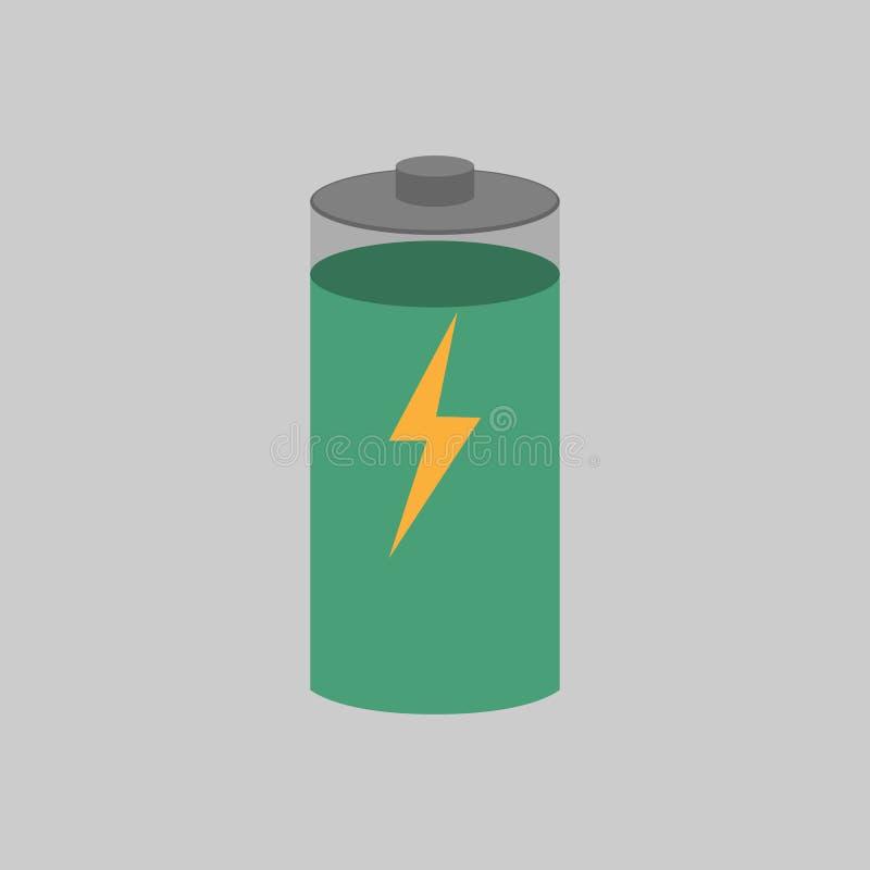 Carga da bateria com seu nível visto sobre ilustração do vetor
