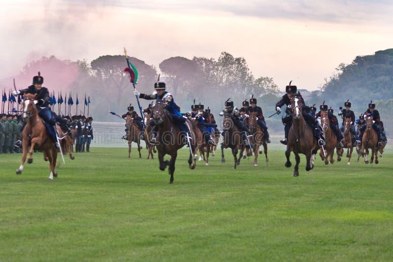 Carga de cavalaria imagem de stock royalty free