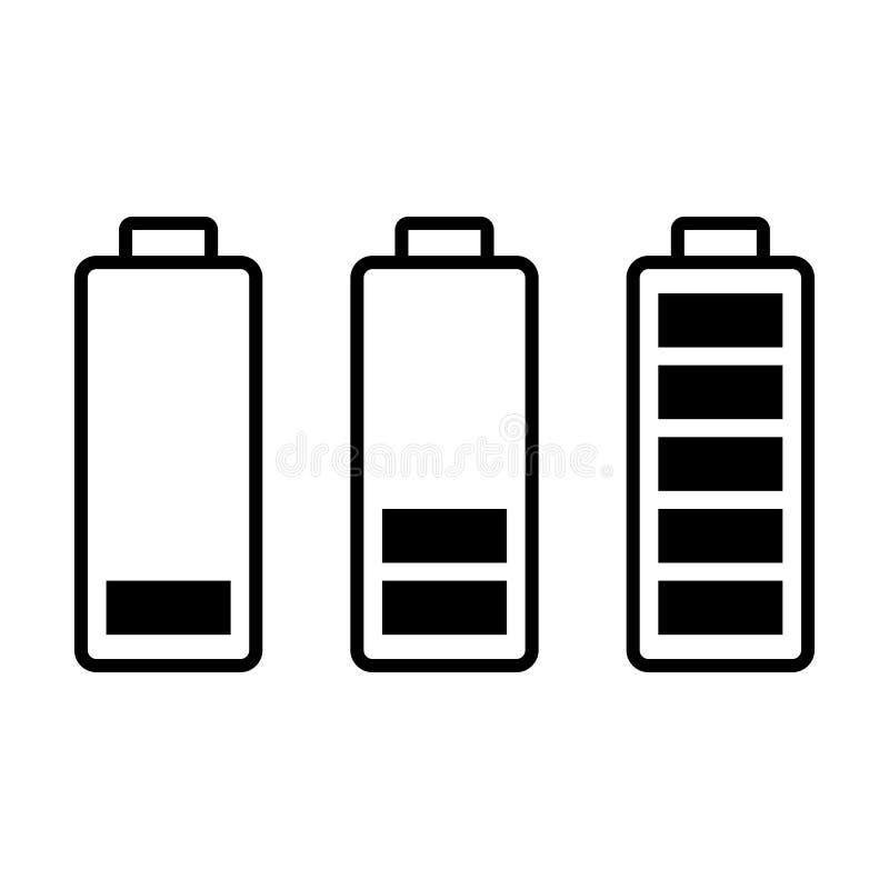 Carga de la batería sistema de símbolos de estatus de la carga libre illustration