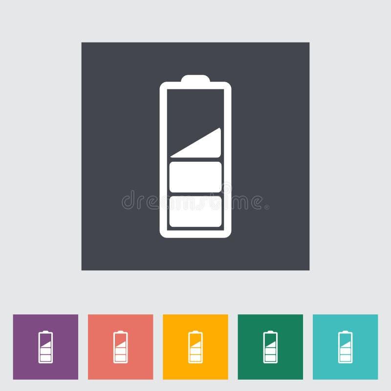 Carga de la batería, solo icono plano. ilustración del vector