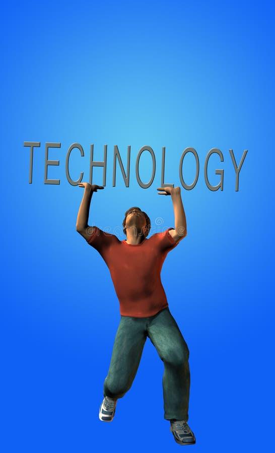Carga de la tecnología ilustración del vector