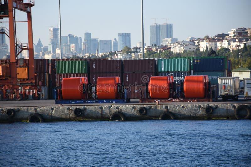 Carga de los buques de carga fotos de archivo