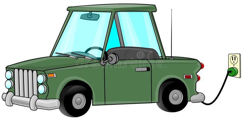 Carga del coche eléctrico libre illustration