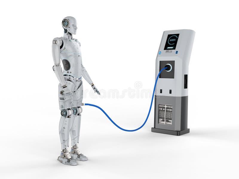Carga del robot en la estación libre illustration