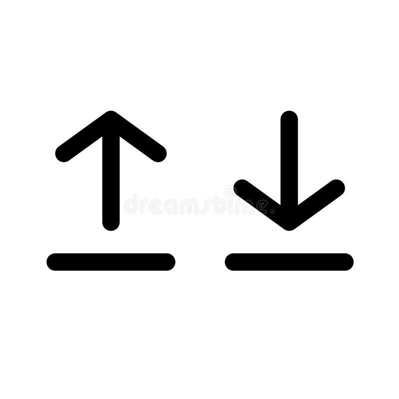 Carga por teletratamiento de la muestra e icono de la transferencia directa libre illustration