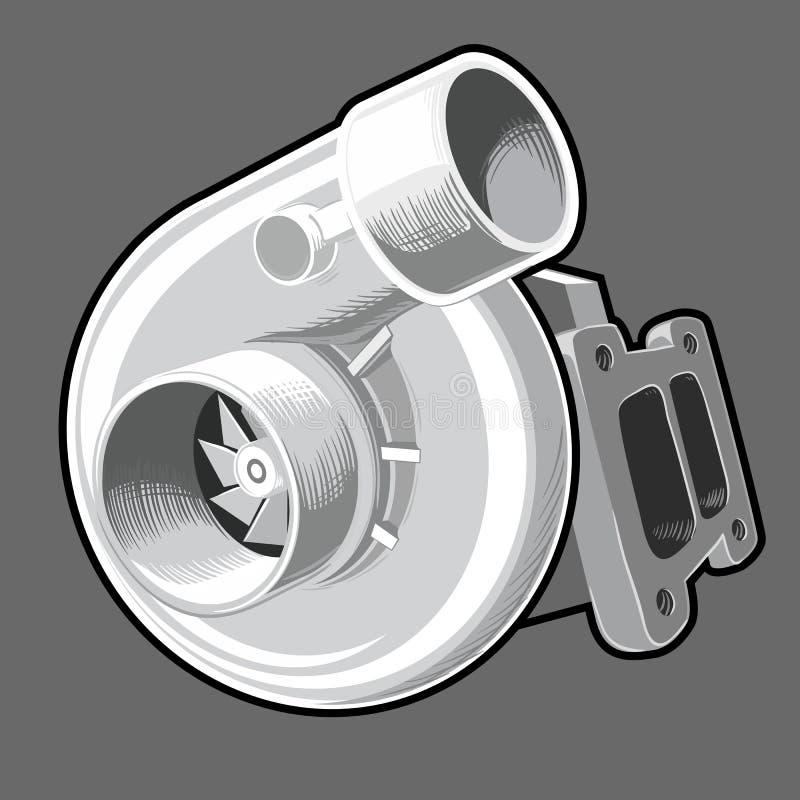 Cargador de turbo del vector libre illustration