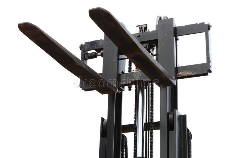 Cargador del apilador de la carretilla elevadora foto de archivo