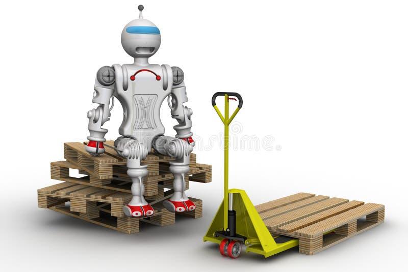 Cargador del robot stock de ilustración