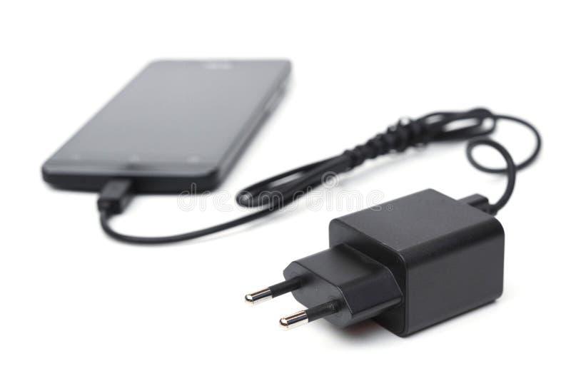 Cargador del teléfono móvil y del adaptador imagenes de archivo