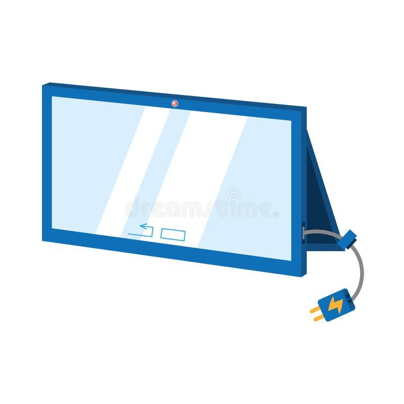 cargador móvil del cable de la tecnología de la conexión de la tableta ilustración del vector