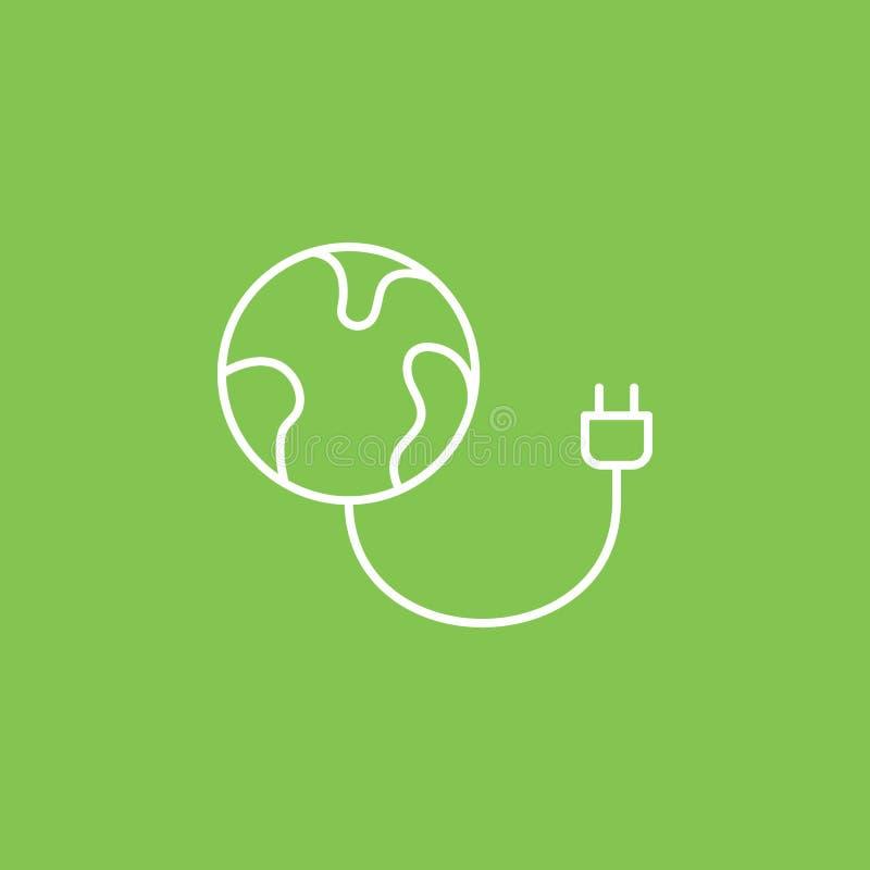 Cargador, tierra, icono del eco - vector Ejemplo simple del elemento del concepto de UI Cargador, tierra, icono del eco - vector  ilustración del vector