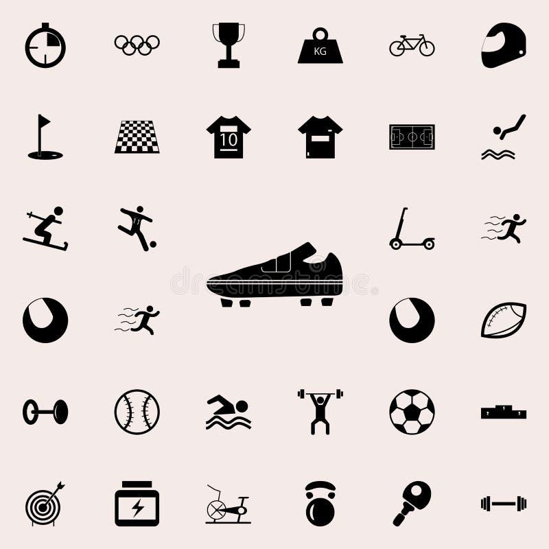 Cargadores del programa inicial del balompié icono Diviértase el sistema universal de los iconos para el web y el móvil ilustración del vector