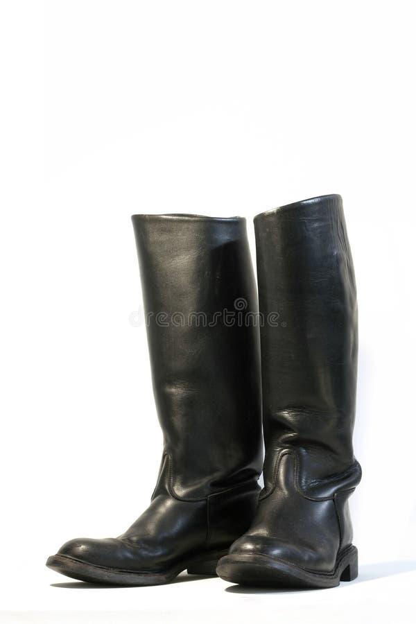 Download Cargadores Del Programa Inicial De Cuero Negros Imagen de archivo - Imagen de pies, boots: 1277369