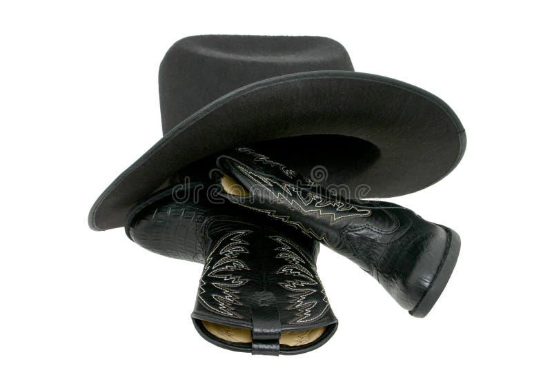 Cargadores del programa inicial y sombrero de vaquero imágenes de archivo libres de regalías