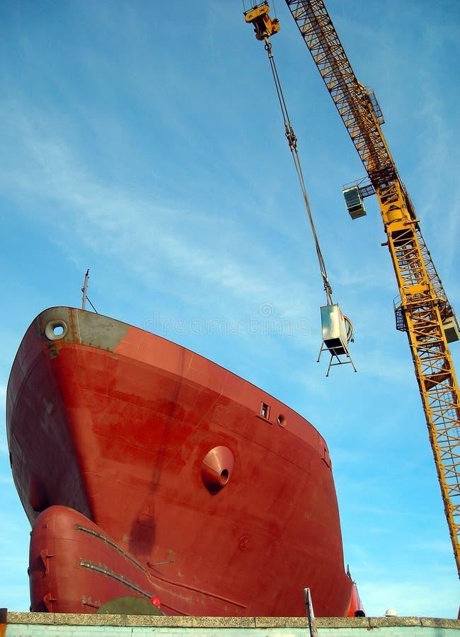 Cargaison dans le chantier naval ! photographie stock libre de droits