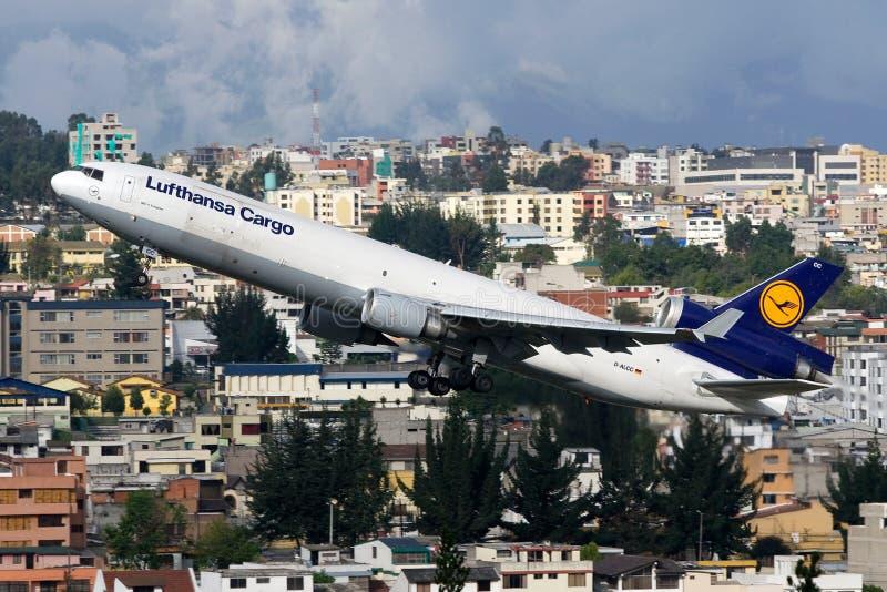 Cargaison Mcdonnell Douglas MD-11F de Lufthansa photos libres de droits