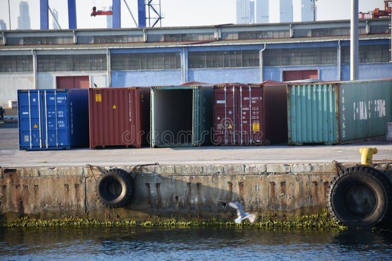 Cargamento del buque de carga foto de archivo libre de regalías