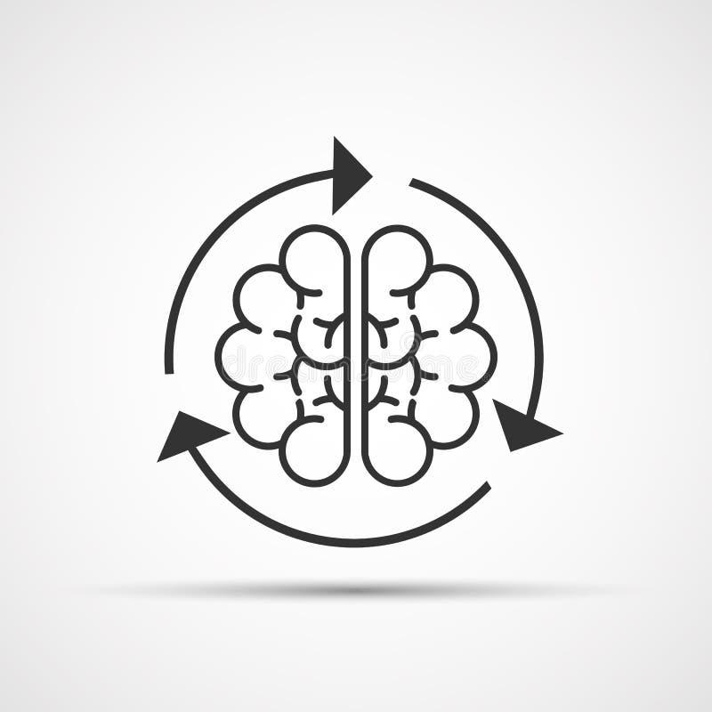 Cargamento del cerebro Ilustración del vector ilustración del vector