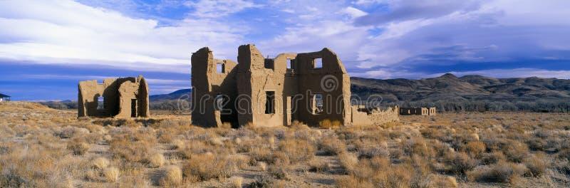 Cargo abandonado do exército, cerca de 1860, parque estadual de Churchill do forte, Nevada fotos de stock royalty free
