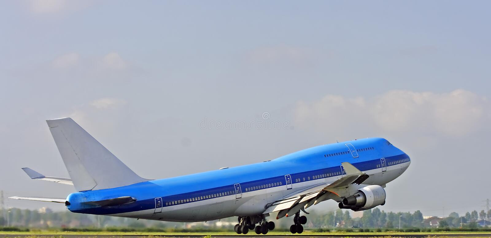 Download Cargo Aircraft Just Taking Off Stock Image - Image: 3340757