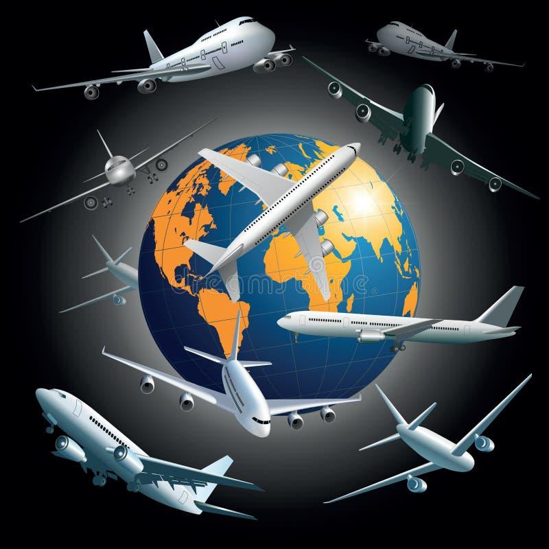 Cargo aircraft stock illustration