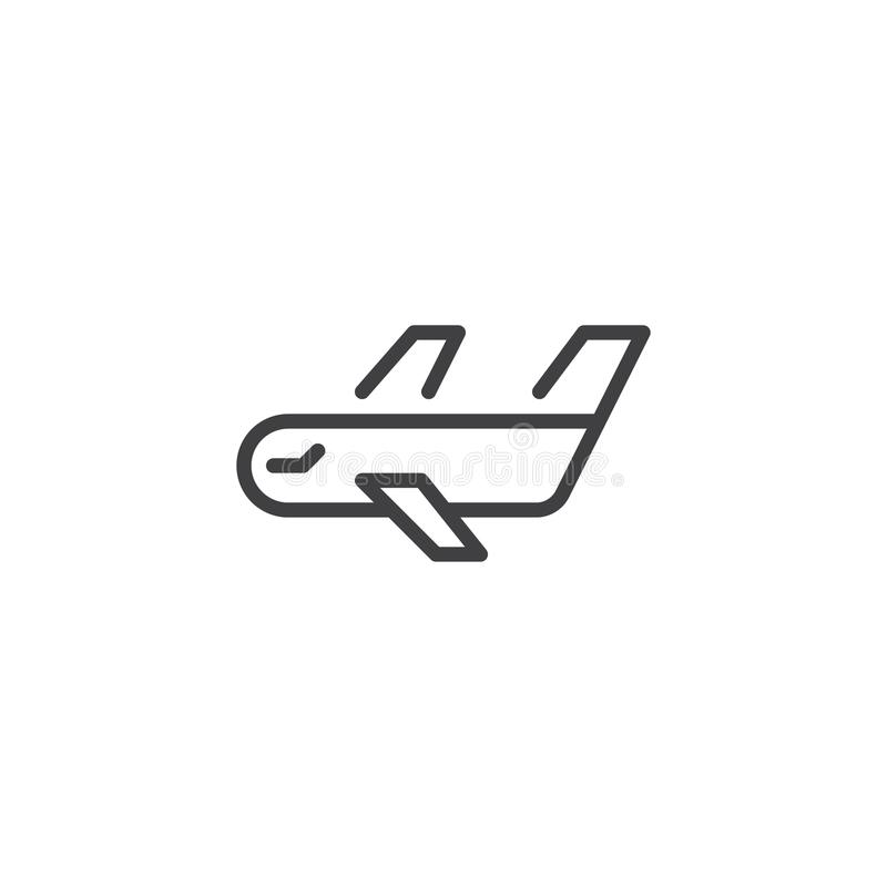 Cargo airplane line icon royalty free illustration