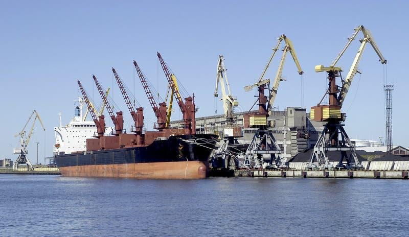 Cargo boat stock image