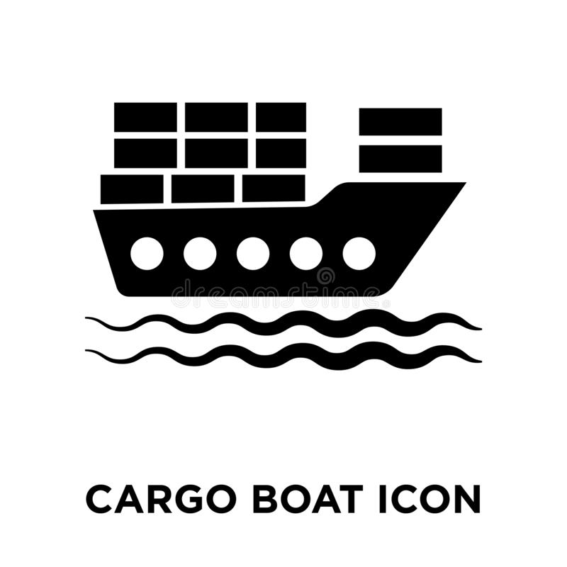 Free Cargo Boat Icon Vector Isolated On White Background, Logo Concept Of Cargo Boat Sign On Transparent Background, Black Filled Royalty Free Stock Images - 125790809