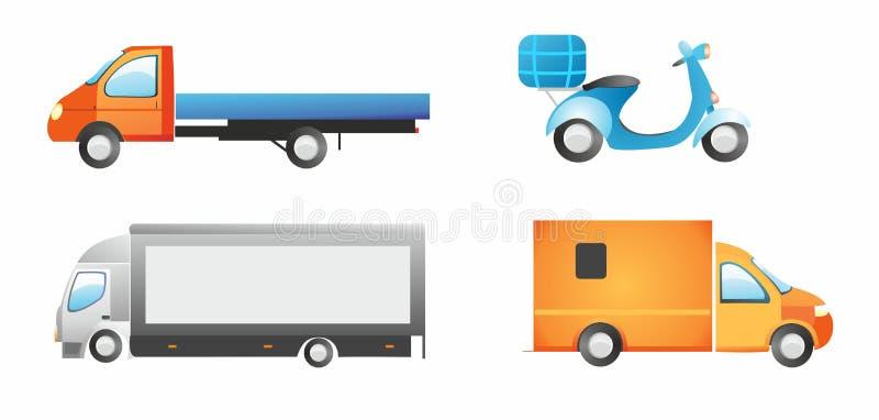 Download Cargo cars set stock illustration. Illustration of bike - 30711204