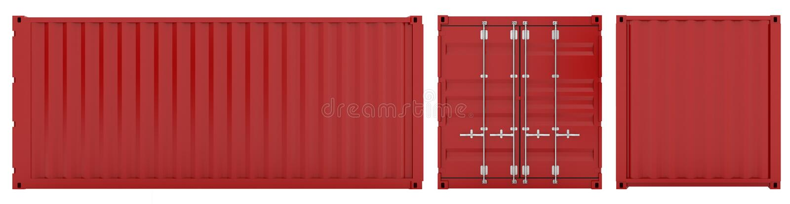 Download Cargo container stock illustration. Illustration of white - 16920880