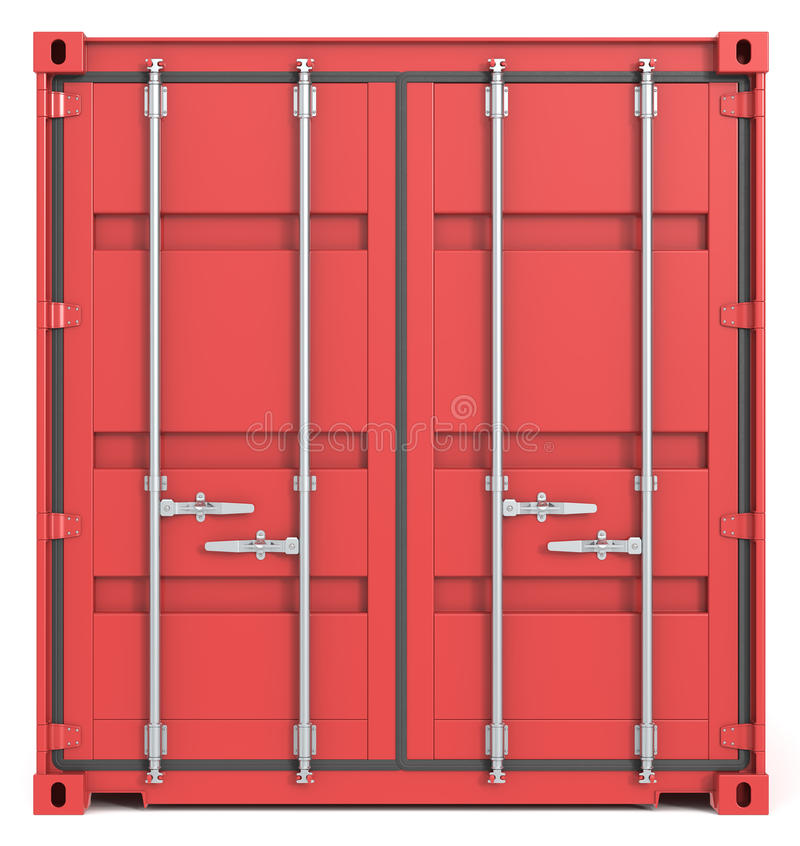 Download Cargo Container Front. stock image. Image of storage - 26239833