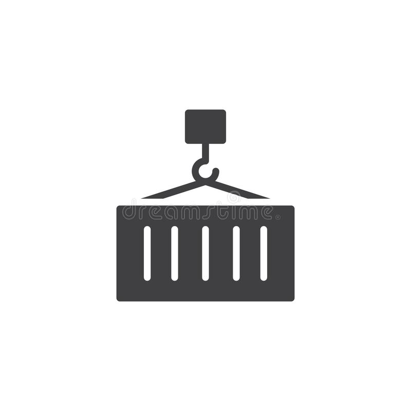 Cargo container loading icon vector stock illustration