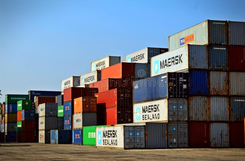 Cargo Container Lot royalty free stock photo