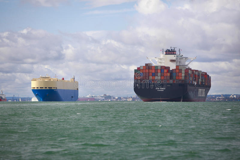 Cargo and Container Ship