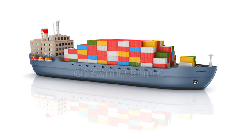 Download Cargo container ship stock illustration. Image of container - 29082735