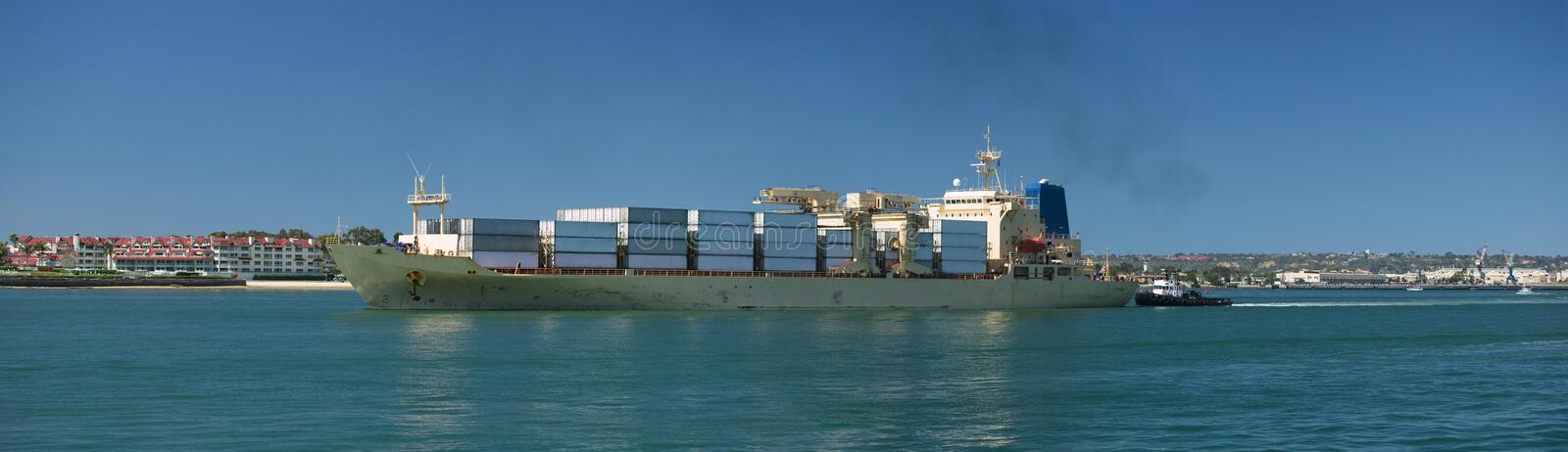 Download Cargo Container Ship stock photo. Image of harbor, color - 6511102