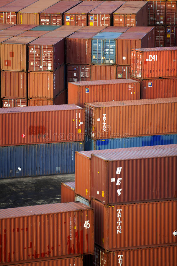 Download Cargo Containers editorial photography. Image of import - 23656532
