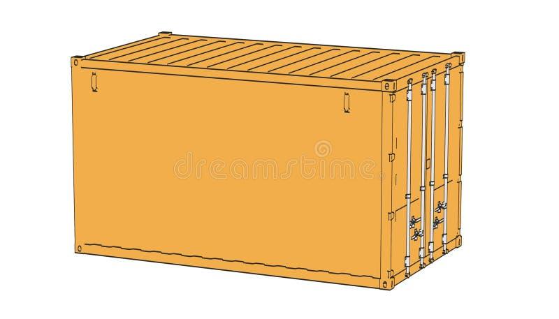 Cargo containers. 2d cartoon illustraion of cargo containers stock illustration