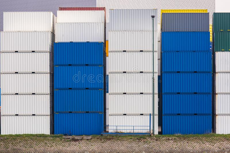 Cargo Containers Goods Stack royalty free stock photos