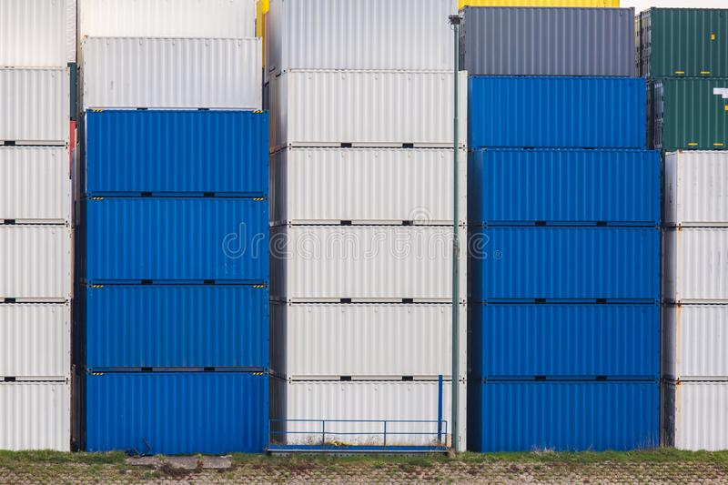 Cargo Containers Goods Stack royalty free stock image