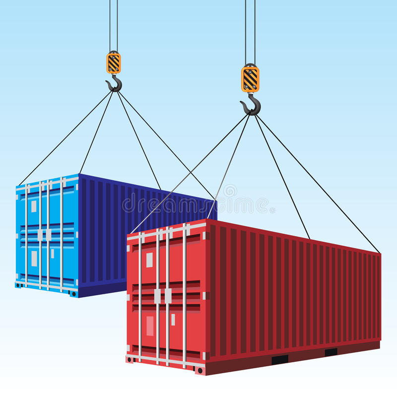 Cargo containers vector illustration