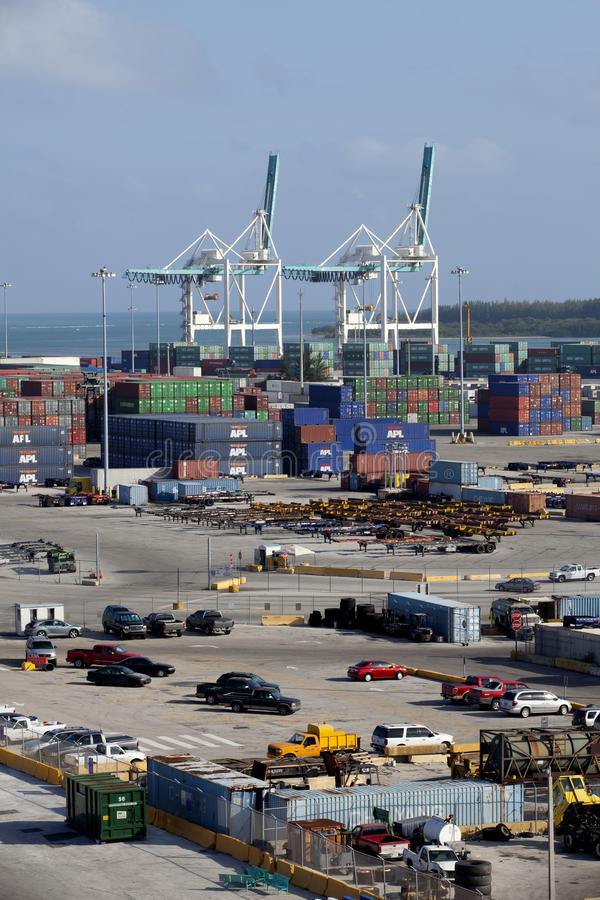 Download Cargo Containers At Shipping Dock Editorial Stock Photo - Image: 23797188