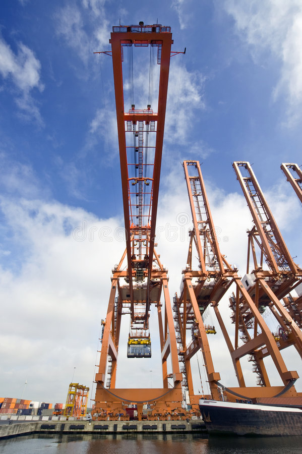 Download Cargo Crane stock photo. Image of format, high, vessel - 6425212