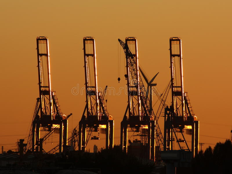 Download Cargo crane sunset stock photo. Image of sunset, crane - 21435832