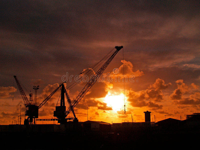 Download Cargo Cranes Stock Photo - Image: 8346930