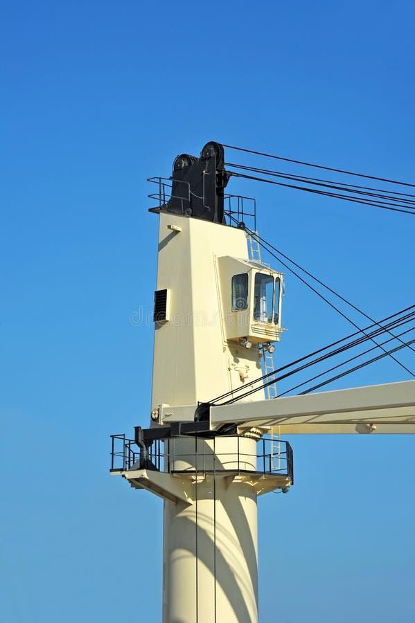 Cargo cranes on bulker stock photography