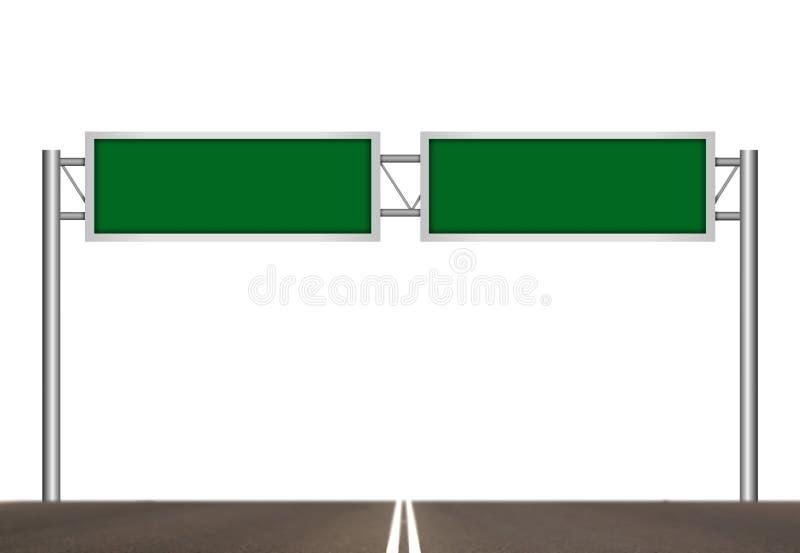 Cargo de sinal vazio da autoestrada ilustração stock